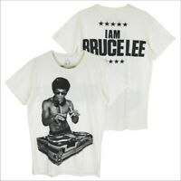 3745fd3c BRUCE LEE Dragon DJ Turntable Dance Party Street Style #WK137 Men White  T-Shirt