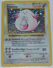 Shadowless Holo Foil Chansey # 3/102 Base Set Pokemon Trading Cards Rares DA