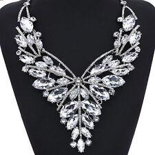 Modeschmuck-Halsketten & -Anhänger aus Metall-Legierung mit Kristall für Damen