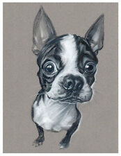 artav Boston Terrier 08 Art Print Dog Puppy Painting