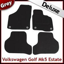 VW Golf Estate Mk5 2007-2009 Round Clips Tailored LUXURY 1300g Carpet Mats GREY