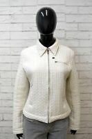GUESS Donna 46 Giacca Trapuntata Bianca Blazer Cappotto Jacket Woman White