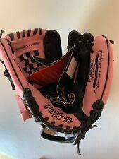 Rawlings Player's Series 9.5� Pl950Bp Youth Glove Baseball Softball Black Pink