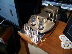 A pair of Dared DV-300B single ended tube mono block amplifiers