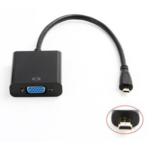 1080P Micro HDMI Male To VGA Female Video Converter Adapter Cable For PC TV HDTV