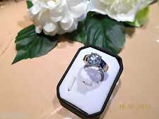 Juwelo Silberring Blauer Topas Ring  925 Sterling Silber Zertifikat   NEU