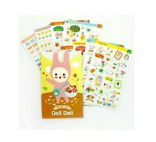 Cute Kawaii Deli Deli More More Clear PVC Diary Decoration Sticker 8 Sheets NEW