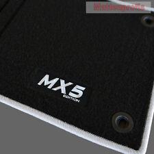 Velours Fußmatten Logo silber für Mazda MX-5 MX5 III NC ab Bj.2006 - 2009
