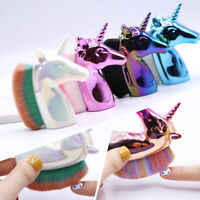 Colorful Nail Brush Dust Remover Powder Cleaning Manicure Nail Art Tools