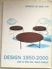 Cornette De Saint Cyr Design 1950 thru 2000 - March 2004