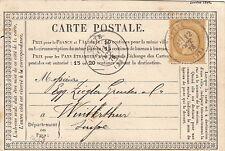 Carte Précurseur Repique Prive CaD Cette (Hérault), Date en Haut & en Bas Suisse