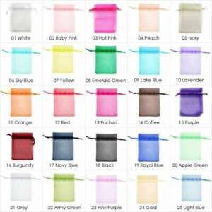 20pcs Organza Wedding Candy Gift Pouches Jewellery Ring Bags Bulk Free Shipping