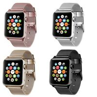 For Apple Watch 4/3/2/1 Band Stainless Steel Classic Buckle Bracelet Wrist
