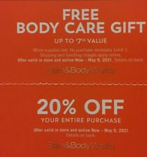 Bath & Body Works 20% Off Entire Purchase + $7.5 Item Exp 5/9/21