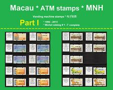 Macau China ATM * Part I * 1993-2014 * MNH * Klussendorf Nagler Frama Kiosk CVP