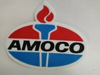 """V. Large Amoco 9'' x 7"""" Embroidered Iron On Automotive Patch for Jackets Vintage"""