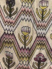 Vintage French cotton botanic TAPESTRY c1950