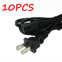 10PCS US 2-Prong Port Pin AC Power Cord Cable Adapter PC Laptop PS2 PS3 HP Dell