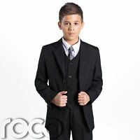Boys Black Suit, Page Boy Suits, Prom Suit, Boys Wedding Suit, Boys Funeral Suit