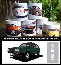 VW GOLF GTI CAR ART MUG. PERSONALISE IT!