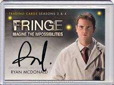 Fringe 3 & 4 Cryptozoic Autograph A10 Ryan Mcdonald