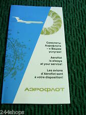 AEROFLOT SOVIET AIRLINE - INFO GUIDE - NEW