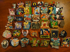 Disney Pins Trading Lot 100 Real Pins Cast Princess Pluto Goofy Donald Peter Set