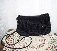 ANTIQUE BLACK BEAD PURSE