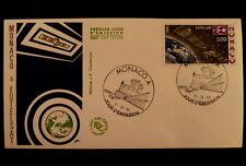 MONACO PREMIER JOUR FDC YVERT  1505        EUTELSAT      3F       1985