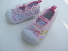 Infant Baby Girls Sequin & Hearts ~Pink~ Shoes Size 2 fits 6-9 Months