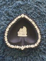 Wedgwood England Black Heart Shaped Candy Dish Ash Tray