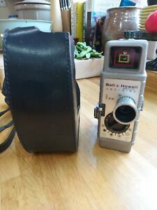 Bell & Howell One-Nine 8mm Cine Camera. Leather case. Sold untested. Photos.