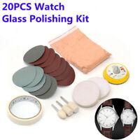 Tools Polishing Pad Powder Accessories Kit Set 20pcs Set Watch Glass Useful
