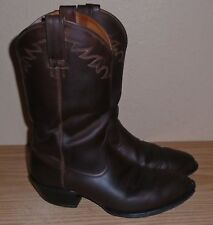 Mens ARIAT  Brown Leather Cowboy Rodeo Western Boots sz Wide 10 D