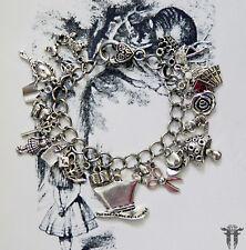 Alice in Wonderland themed MAD HATTER Inspired Charm Bracelet