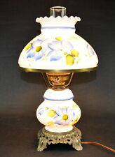 Vintage ACCURATE CASTING CO. 3-Way Hand Painted Floral Lamp * Made in U.S.A.