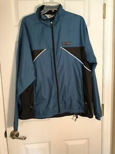 SUGOi Cycling Light Jacket Men's XL Blue & Black With reflective stripe