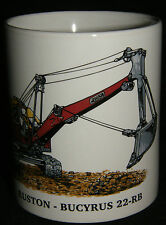 BN Ruston Bucyrus 22-RB Excavator Stoneware Mug,  1/2 pint mug, construction mug