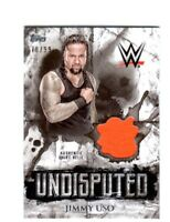 WWE Jimmy Uso 2018 Topps Undisputed Authentic Shirt Relic Card SN 78 of 99