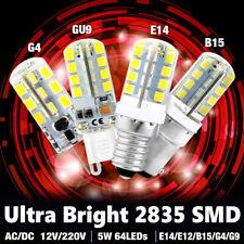TSLE High Lumens G4/G9/E12/B15 Base LED Corn Bulb 12V/220V Cool Warm White Lamps