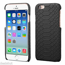 Stylish Black Snake Skin PU Leather Back Cover Case For Apple iPhone 6S / 6 - UK