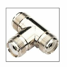 Pro Trucker Dual Cable T Connector - So-239 to So-239 Allows Dual Antenna