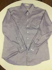 PRONTO UOMO NON IRON Men's Purple Dress Shirt 17 34/35 TALL