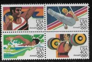 Scott C105-08 US Air Mail Stamp 1983 40c Olympics Block of 4 MNH