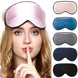 Soft Cozy Sleep Eye Mask Shade Cover Travel Sleep Relax Aid Blindfold Blackout.