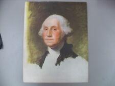 Vintage GILBERT STUART George Washington Portrait Military President #2213