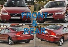 Las cejas para Volvo S60 Frontal + Trasera 00-09 Faro párpados tapas de plástico ABS
