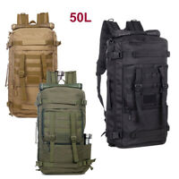 Outdoor Tactical Backpack 50L Duffel Duffle Military Molle Gear Travel Bag