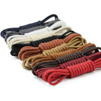 Waxed Cotton Thin Round Shoelaces 2.5mm 75cm Dress Wax Cord Laces Brogues Shoes