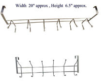 12 GANCI CROMATO sopra la porta locale coat hanger clothes Asciugamano Storage